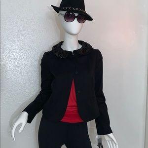 DKNY Long Sleeve Blazer w/ Sequined Collar size 2